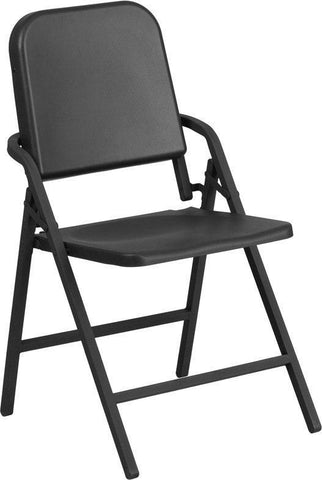 Flash Furniture HF-MUS-FLD-GG HERCULES Series Black High Density Folding Melody Band/Music Chair