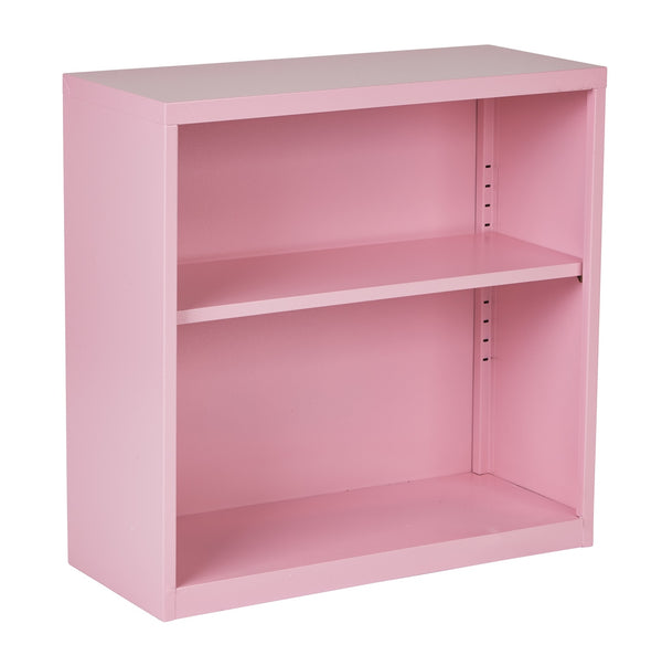 OSP Designs Metal Bookcase in Pink
