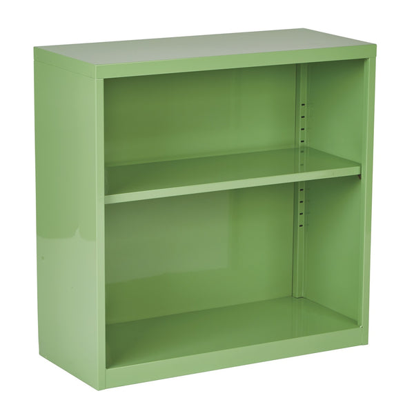 OSP Designs Metal Bookcase in Green