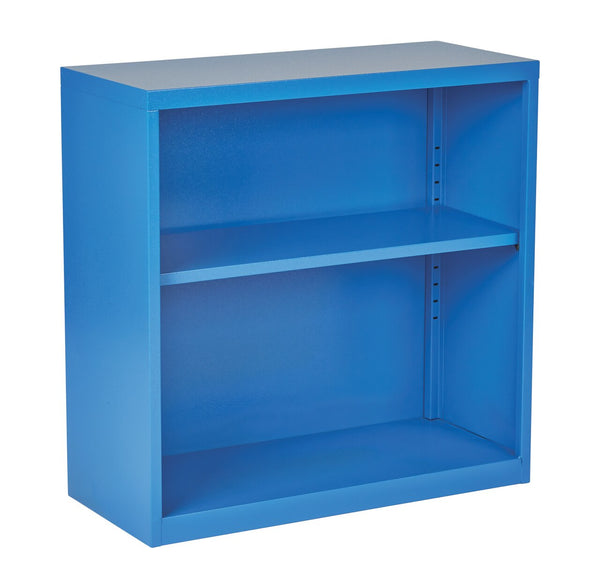 OSP Designs Metal Bookcase in Blue