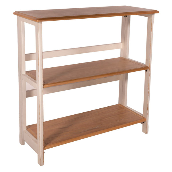 OSP Designs Medford 3/Shelf Bookcase in Distressed White