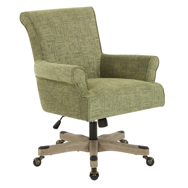 OSP Designs Megan Office Chair in Olive