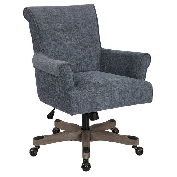 OSP Designs Megan Office Chair in Navy
