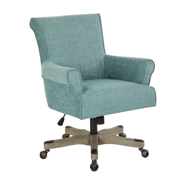 OSP Designs Megan Office Chair in Turquoise