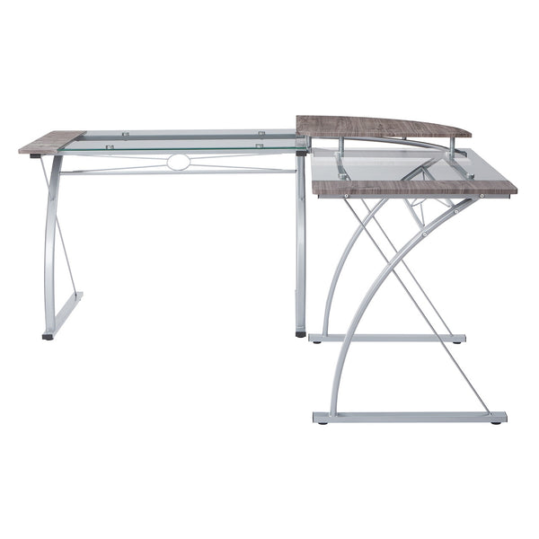 OSP Designs Messina Desk in Silver