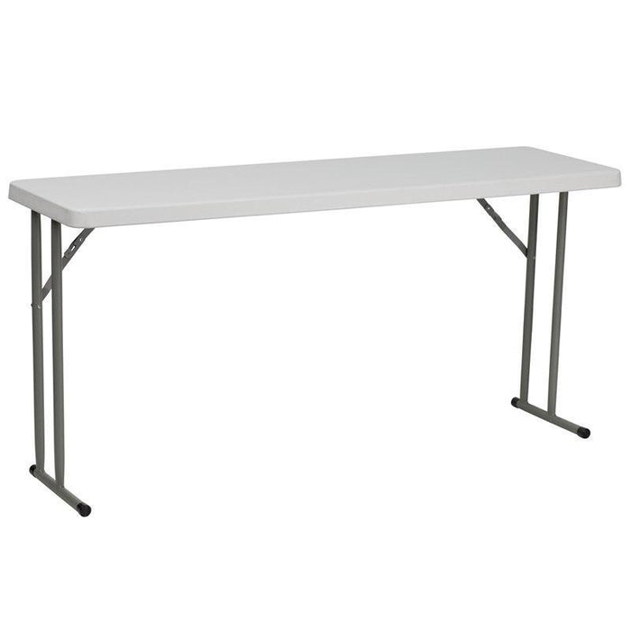 Flash Furniture RB-1860-GG 18''W x 60''L Granite White Plastic Folding Training Table