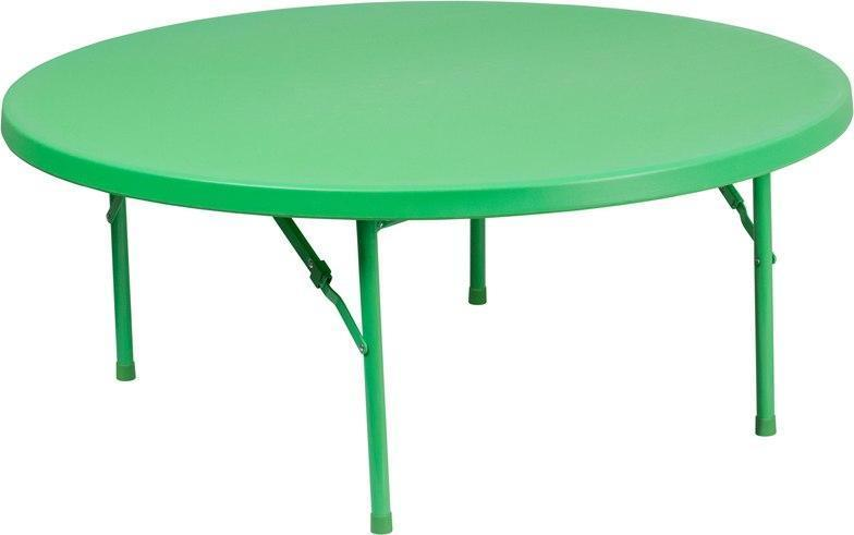 Flash Furniture RB-48R-KID-GN-GG 48'' Round Kid's Green Plastic Folding Table