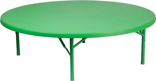 Flash Furniture RB-60R-KID-GN-GG 60'' Round Kid's Green Plastic Folding Table