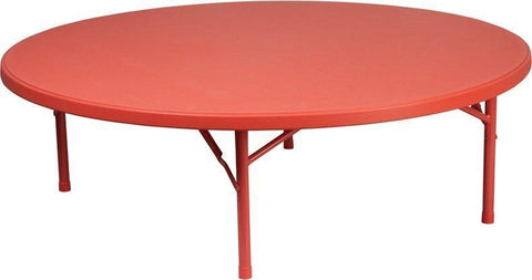 Flash Furniture RB-60R-KID-RD-GG 60'' Round Kid's Red Plastic Folding Table