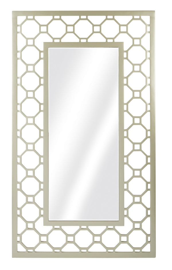OSP Designs Matte Gold Frame Square Mirror in Matte Gold