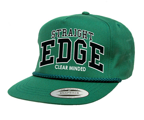 Straight Edge Rope Hat (Spruce) - Clear Minded Clothing