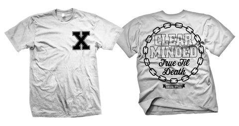 Simple Chain Shirt (White) - Clear Minded Clothing