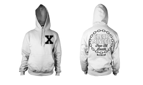 Simple Chain Hoodie (White) - Clear Minded Clothing