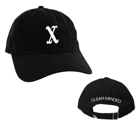 Unstructured X Hat (Black) - Clear Minded Clothing
