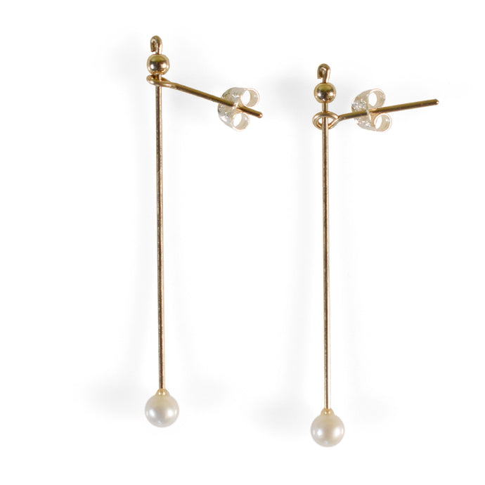 Pilar Earrings, Pearl
