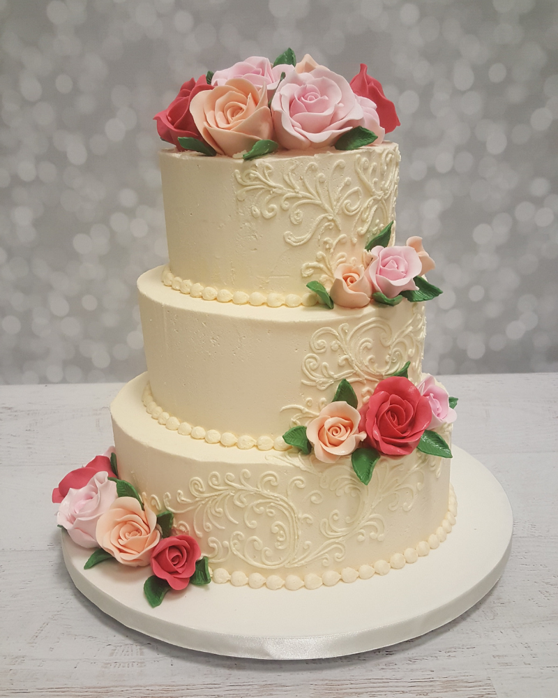 Our cakes celebration cakes cakes and decorating supplies nz wedding cakes junglespirit Image collections