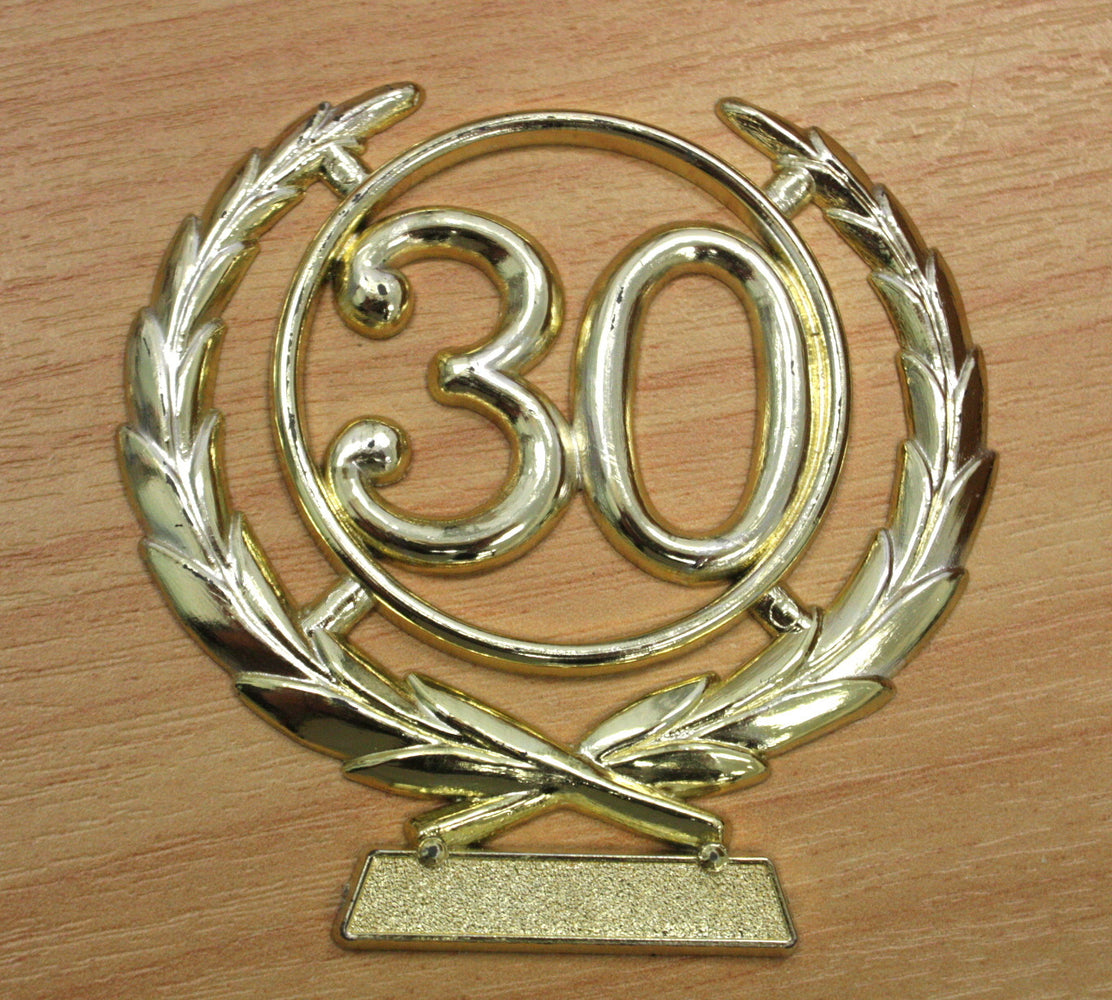Number Wreath Gold- 30 , Number