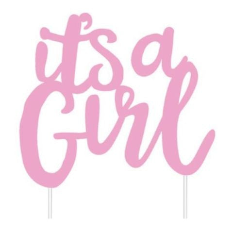 It's A Girl Topper (Card)
