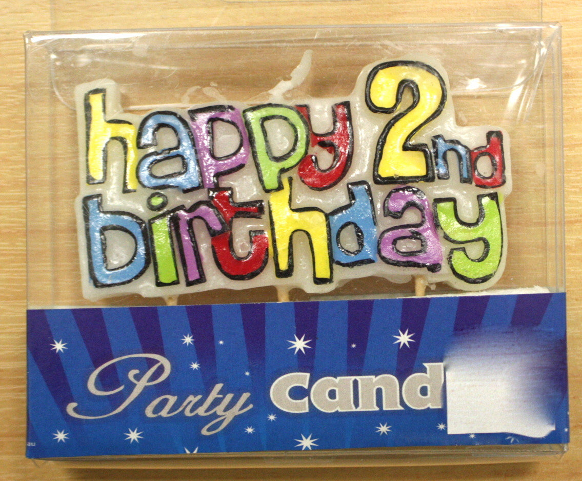 Happy 2nd Birthday Candle