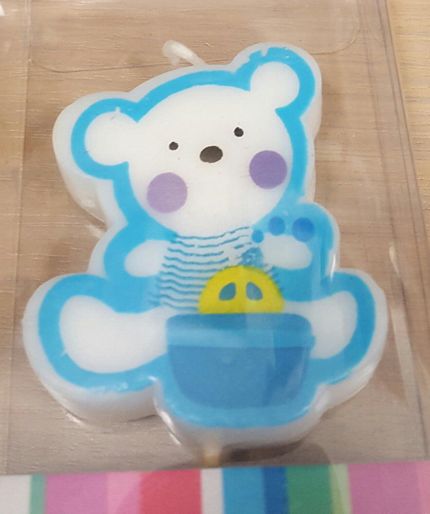 Baby Bear Candle- Blue , Candle