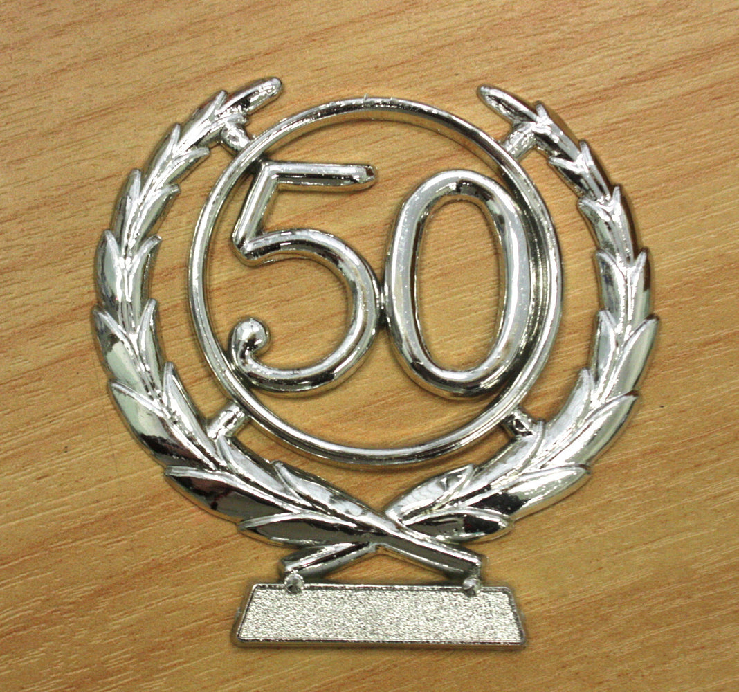 Number Wreath Silver- 50 , Number