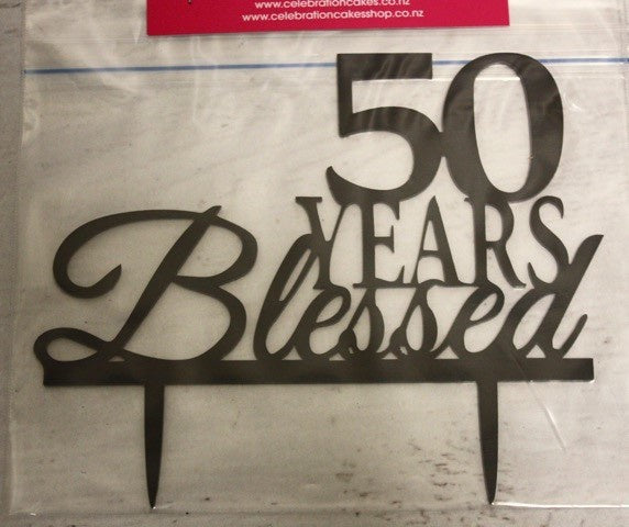 50 Years Blessed Topper , Decoration