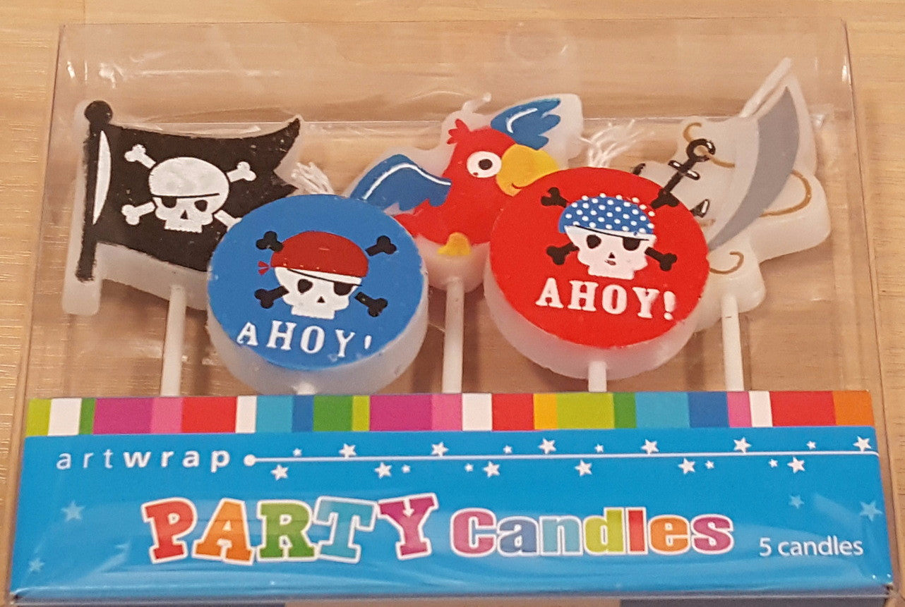 Ahoy Pirate Candles , Candle