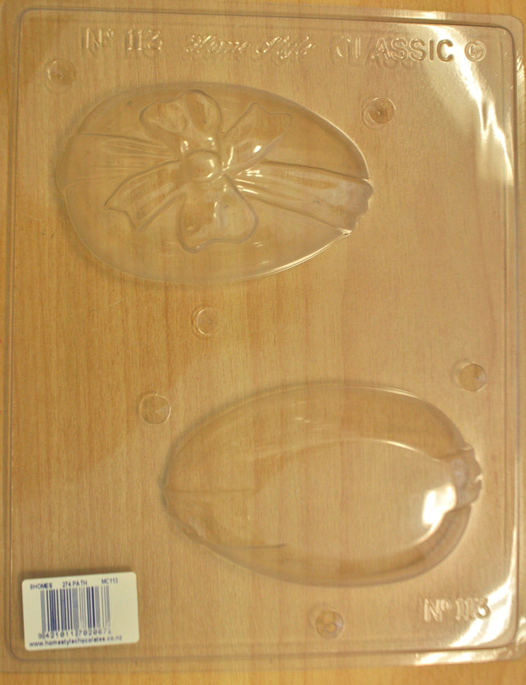 Chocolate Mould- Large Easter Egg with Bow- 113 , Mould