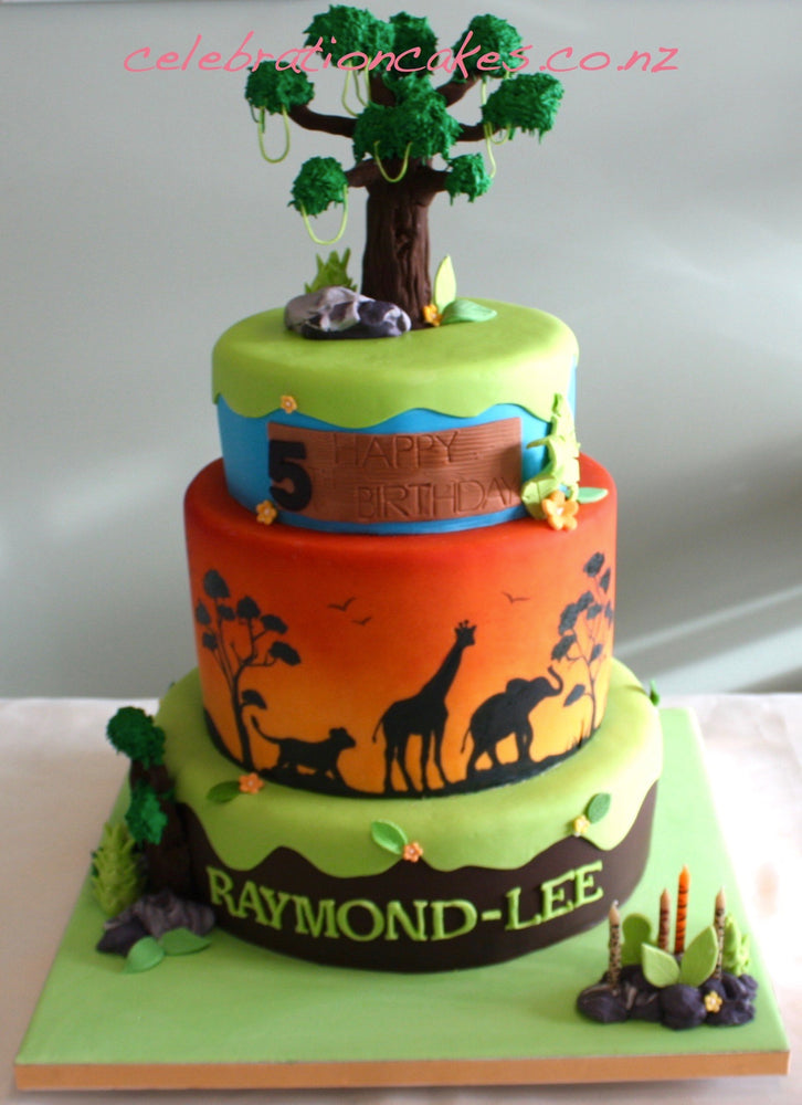 Safari Sunset 3t , cake