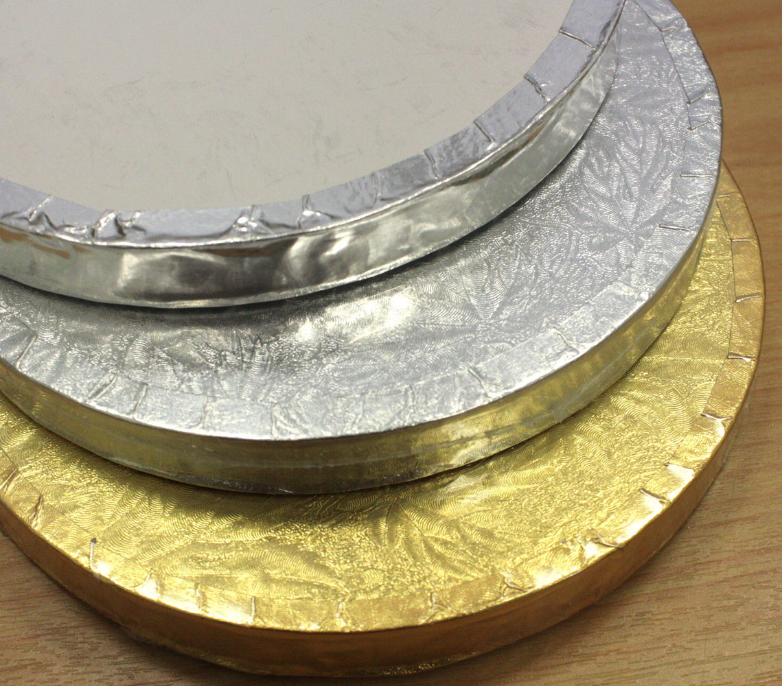 "Cake Board 14mm- Round 8"" Gold , cake board"