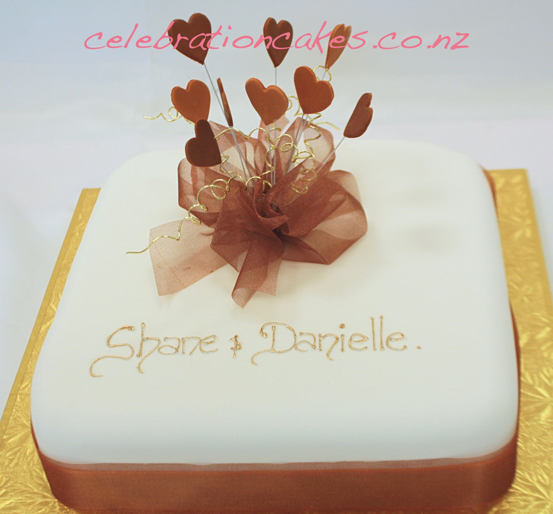 Bronze Engagement , cake