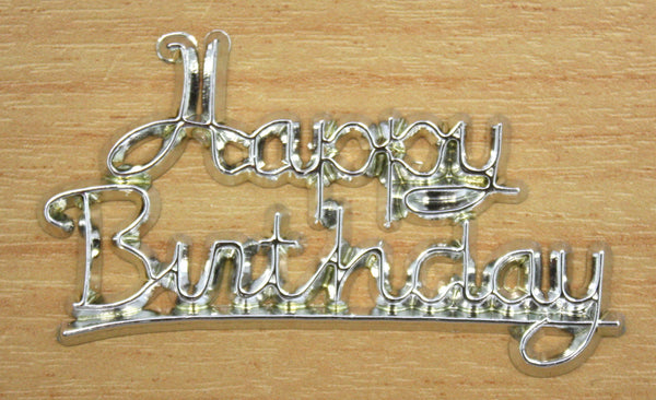 Happy Birthday- Silver Script