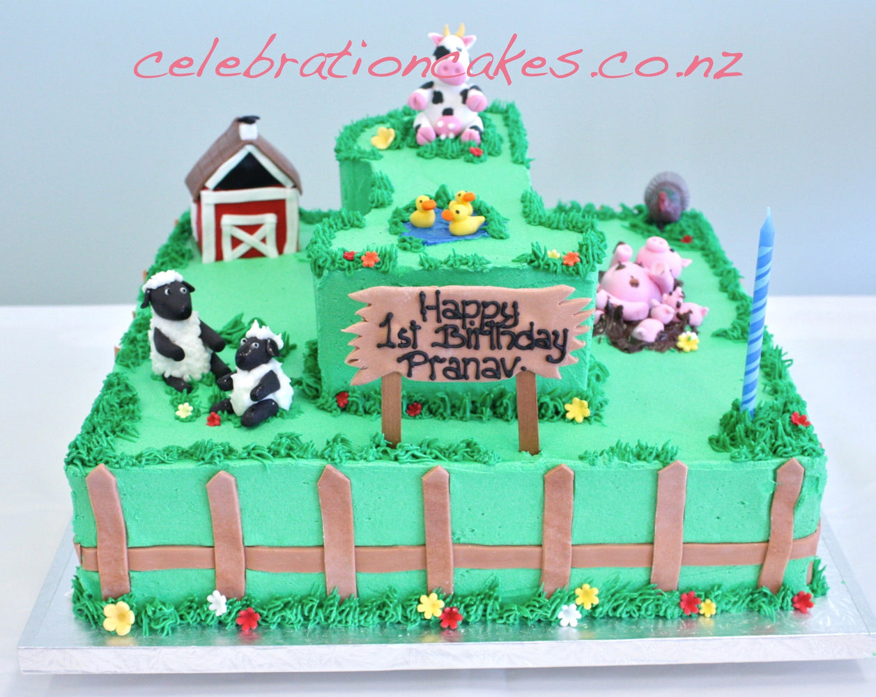 Farmhouse 2 tier. , cake