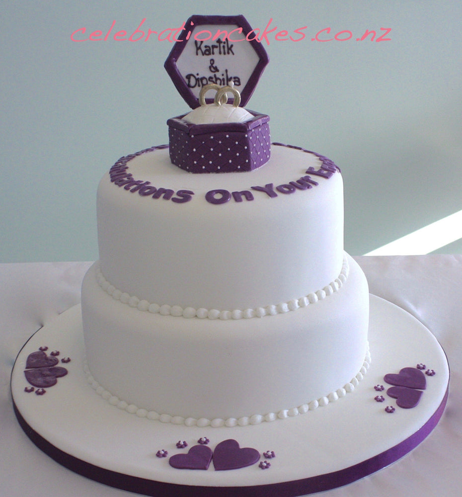 Ring Box Engagement. , cake