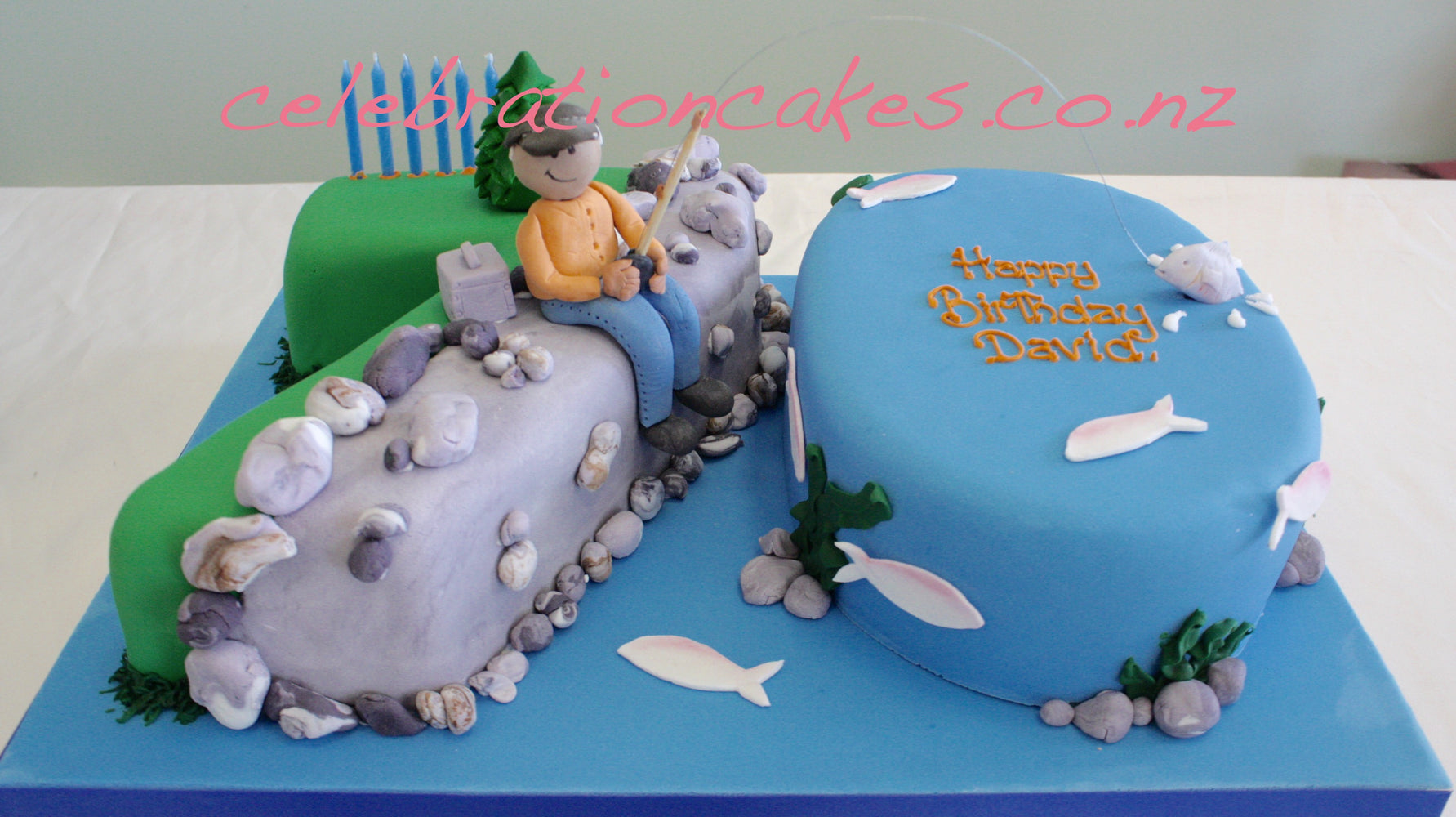 Fishing Number Cake , cake