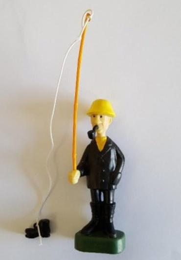 Fisherman With Boot , Figurine
