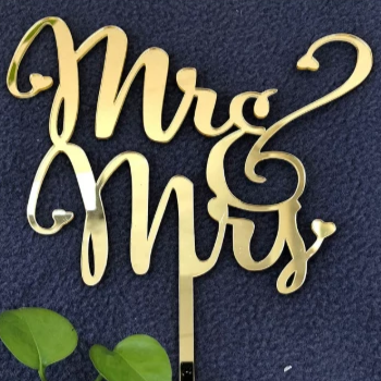 Mr & Mrs Topper- Gold Mirror