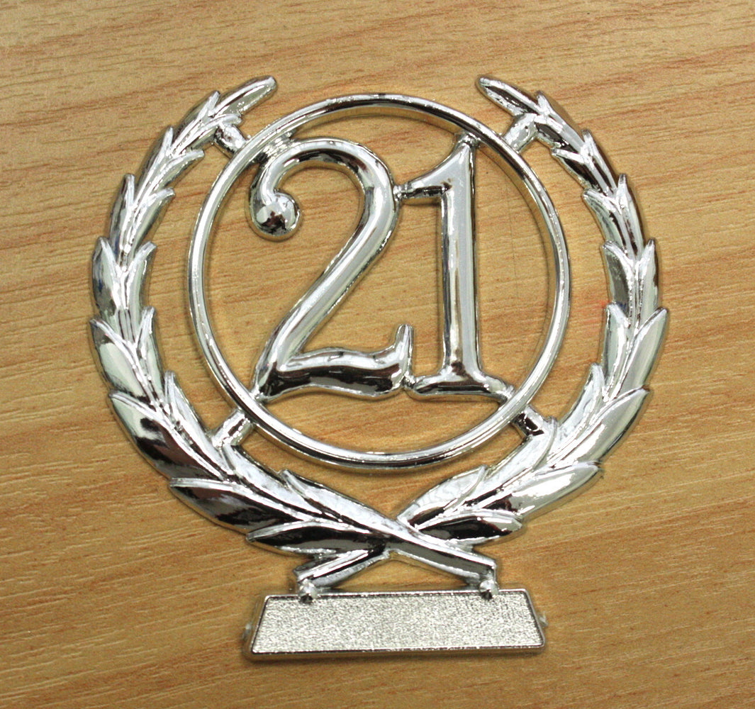 Number Wreath Silver- 21 , Number