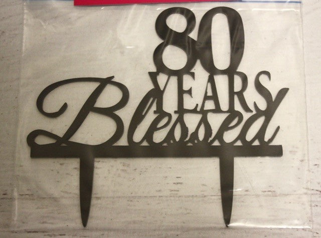 80 Years Blessed , Decoration