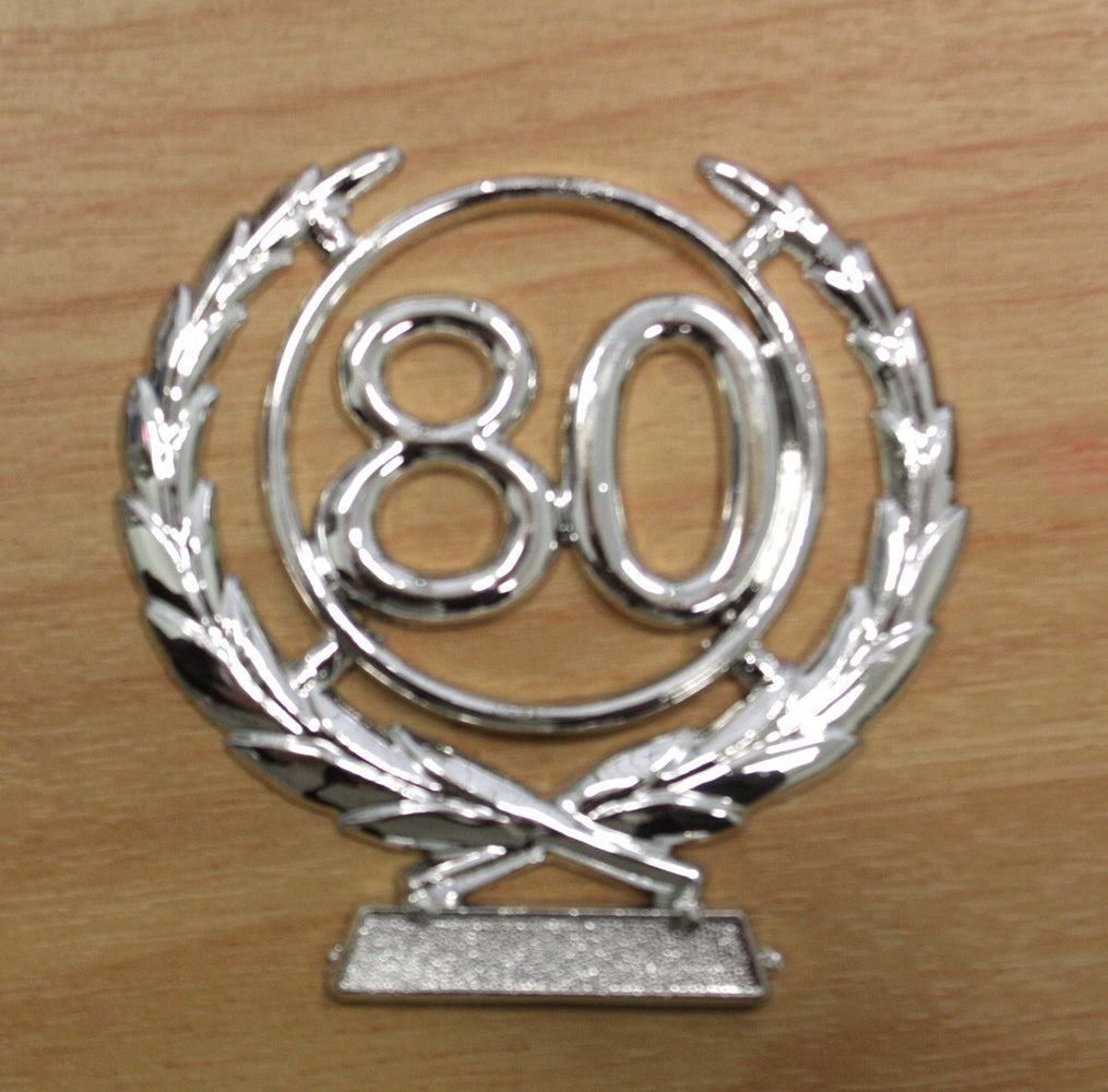 Number Wreath Silver- 80 , Number