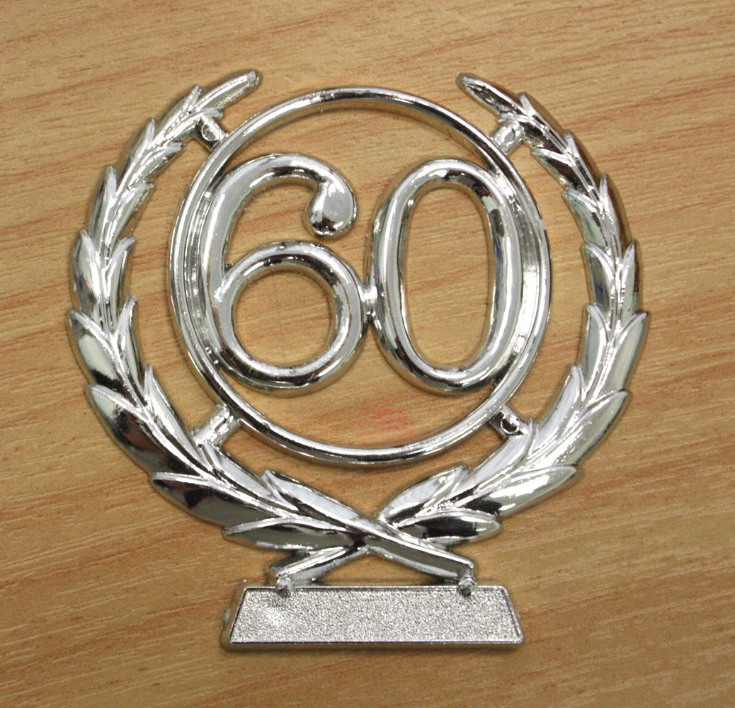 Number Wreath Silver- 60 , Number