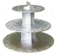 Cupcake Stand- Silver , Stand