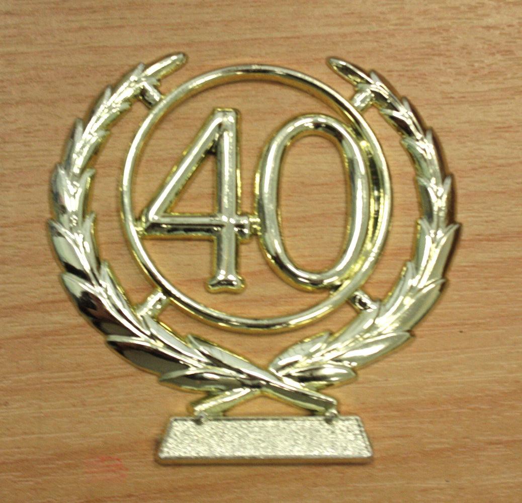 Number Wreath Gold- 40 , Number