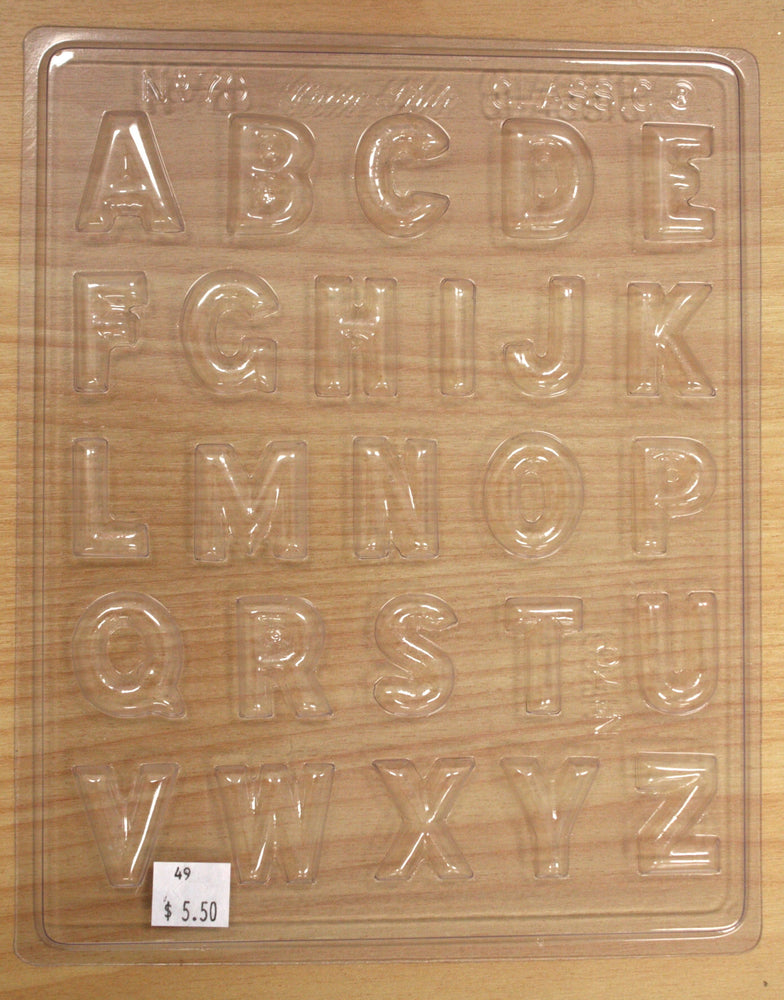 Chocolate Mould- Alphabet - 70