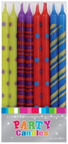 Coloured Taper Candles