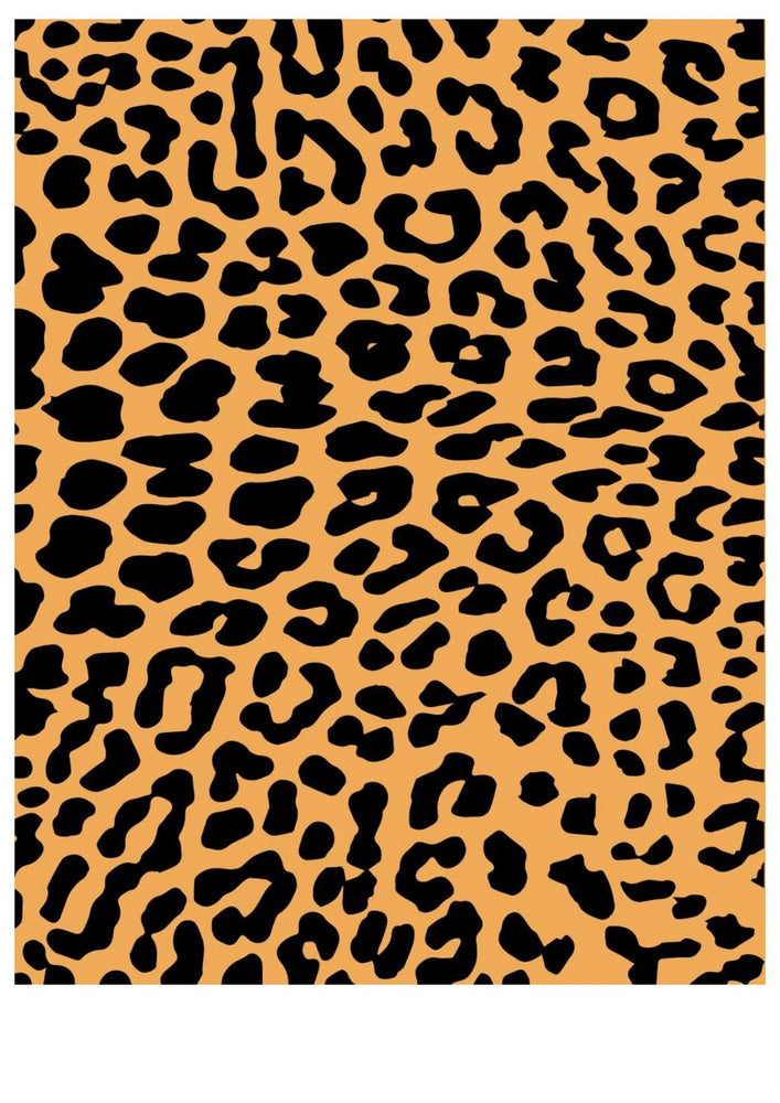 Edible Image- Leopard Page , Edible Image