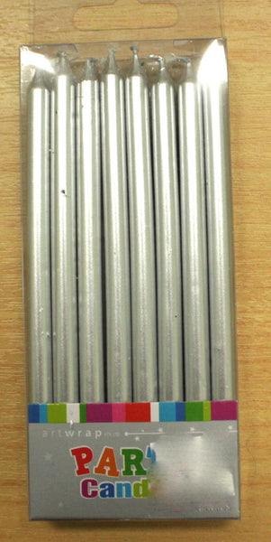 Taper Candles- Silver