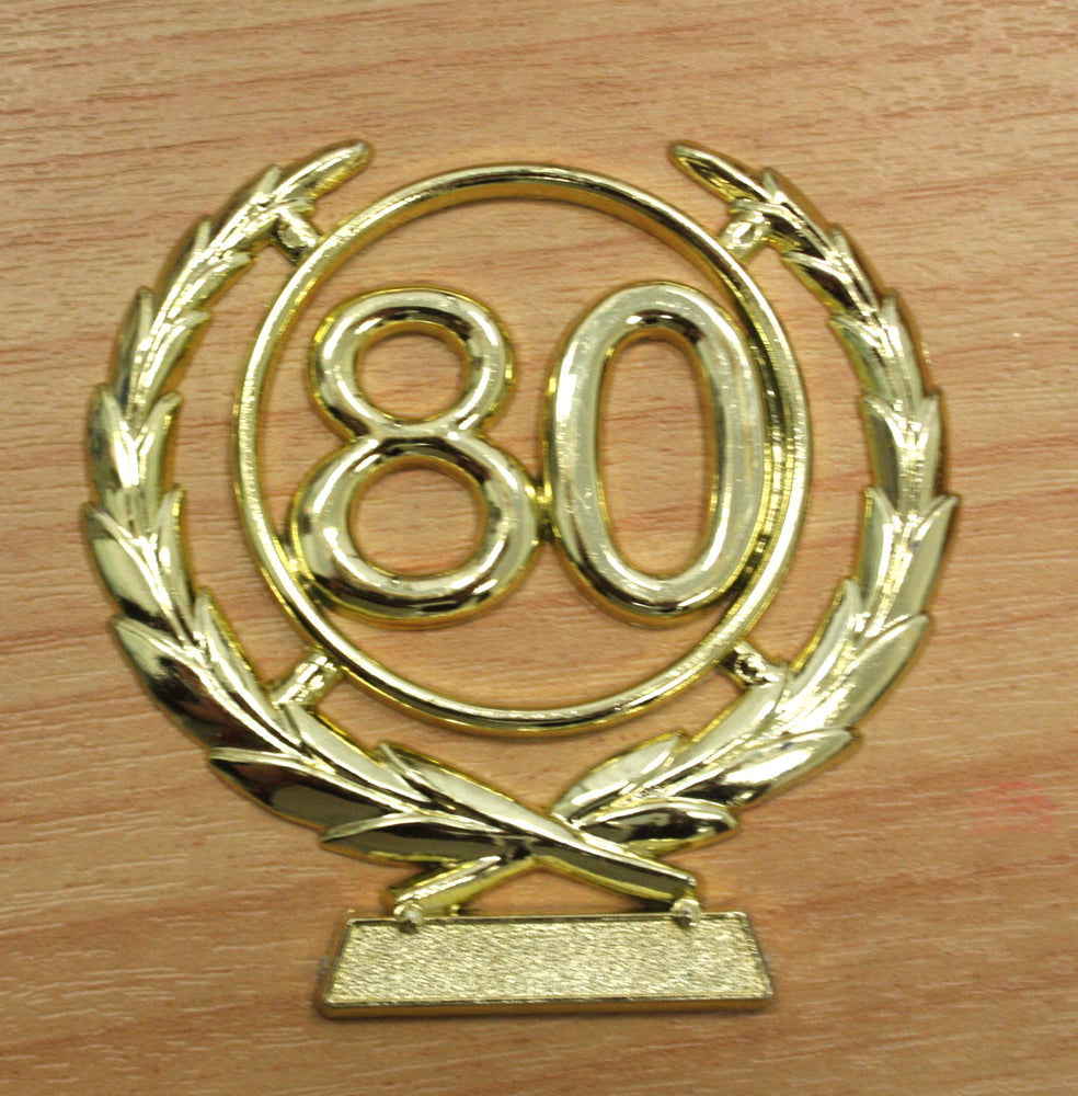 Number Wreath Gold- 80 , Number