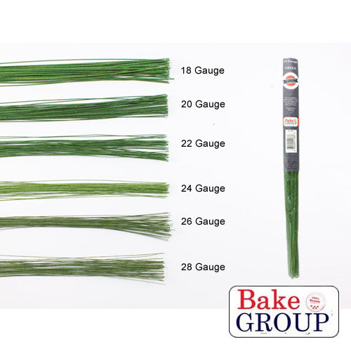 BG  Florist Wire- 26g Green