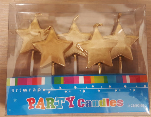 Star Candles- Gold